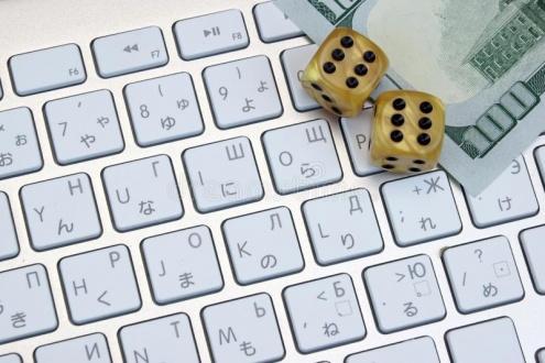 конец-вверх-к-авиатуры-компьютера-игра-dices-и-на-ичные-еньги-о-ара-57813585.jpg